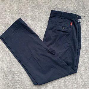 NWT Polo Ralph Lauren Preston Pant Flat Front Navy